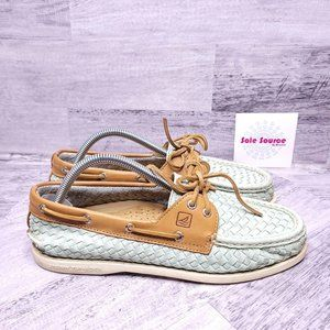 Sperry Top-Sider Audrey Woven Leather Boat Shoe Aq